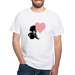 Valentine Silhouette Thinking of You Design White