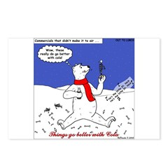 Polar Bear Penguin Pop Postcards (Package of 8)