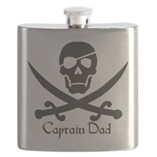 Captain Dad Jolly Roger Pirate Crossbones and Swor