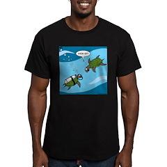 Seaturtle SCUBA Men's Fitted T-Shirt (dark)
