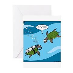 Seaturtle SCUBA Greeting Cards (Pk of 10)