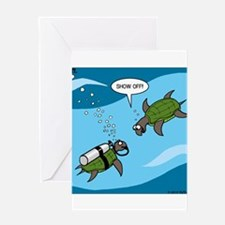 Seaturtle SCUBA Greeting Card