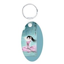 Vintage Chinese Lady in Pin Keychains