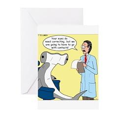 Hammerhead Shark Eye Exam Greeting Cards (Pk of 10