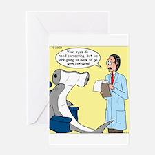 Hammerhead Shark Eye Exam Greeting Card