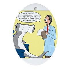 Hammerhead Shark Eye Exam Ornament (Oval)