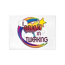 I Believe In Twerking Cute Believer Design 5'x7'Ar
