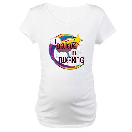 I Believe In Twerking Cute Believer Design Materni