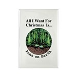 Xmas Peas on Earth Rectangle Magnet (100 pack)