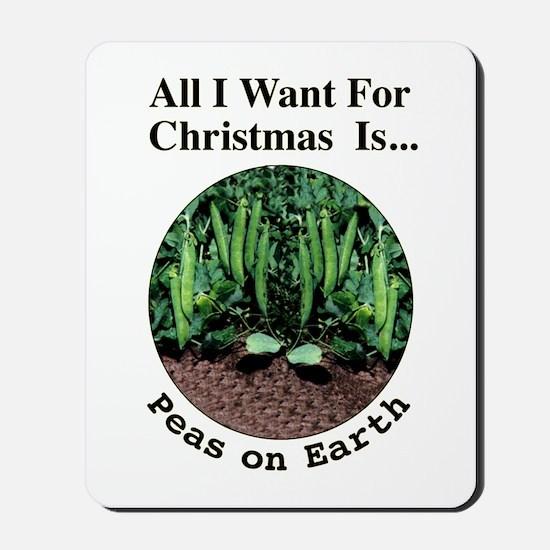 Xmas Peas on Earth Mousepad