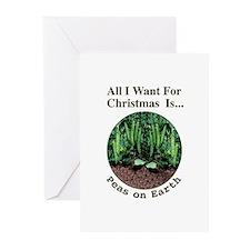 Xmas Peas on Earth Greeting Cards (Pk of 10)
