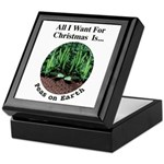 Xmas Peas on Earth Keepsake Box