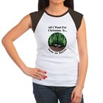 Xmas Peas on Earth Women's Cap Sleeve T-Shirt