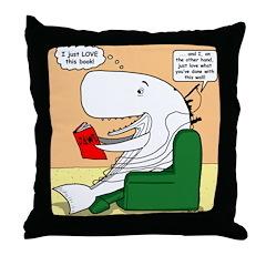Whale Favorite Book Throw Pillow