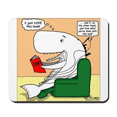 Whale Favorite Book Mousepad