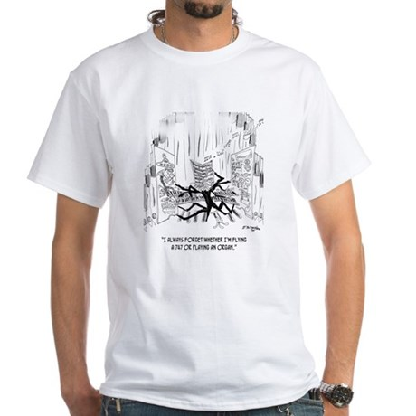 Playing an Organ or Flying a 747? White T-Shirt