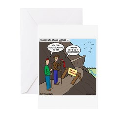 Trail Closed Greeting Cards (Pk of 10)