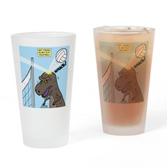 T-Rex Volleyball Drinking Glass