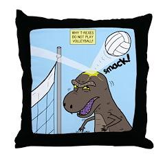 T-Rex Volleyball Throw Pillow