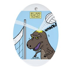 T-Rex Volleyball Ornament (Oval)