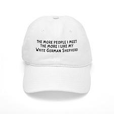 White German Shepherd: people Baseball Cap