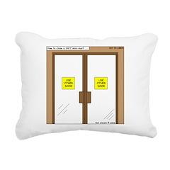 Closing a Mini-Mart Rectangular Canvas Pillow