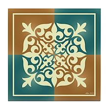 TEAL & TERRA TILE Tile Coaster