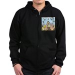 Viking Graduation Zip Hoodie (dark)