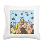 Viking Graduation Square Canvas Pillow