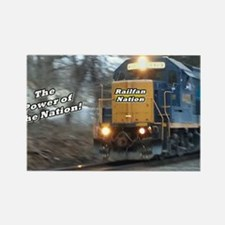 Railfan Nation Picture Rectangle Magnet