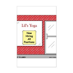 Yoga Now Hiring All Positions Posters