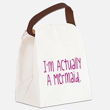 Im Actually A Mermaid Canvas Lunch Bag