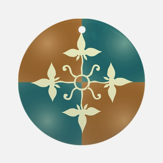 TEAL & TERRA TILE Ornament (Round)