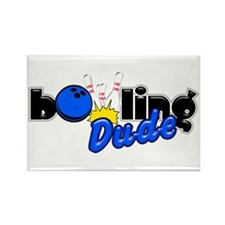 Bowling Dude Rectangle Magnet