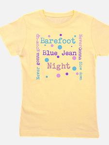 Barefoot blue jean Night Girl's Tee