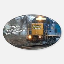 Railfan Power Oval Decal