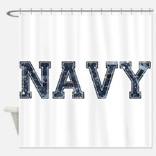 NAVY Digi Camo Shower Curtain