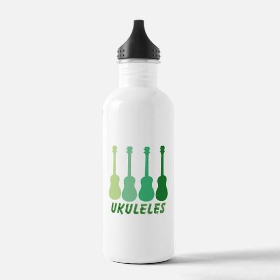 Green Ukuleles Water Bottle