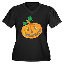 Halloween Carved Pumpkin Plus Size T-Shirt
