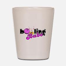 Bowling Babe Shot Glass