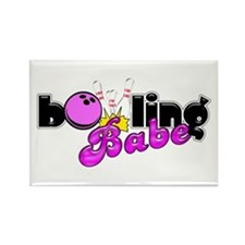 Bowling Babe Rectangle Magnet
