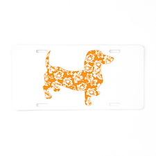 Hawaiian Doxie Dachshund Aluminum License Plate
