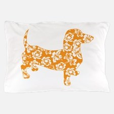 Hawaiian Doxie Dachshund Pillow Case