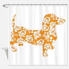 Hawaiian Doxie Dachshund Shower Curtain