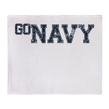 go NAVY Throw Blanket