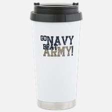 go NAVY beat ARMY Travel Mug