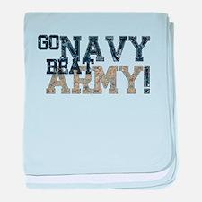 go NAVY beat ARMY baby blanket