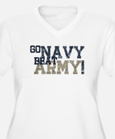 go NAVY beat ARMY Plus Size T-Shirt