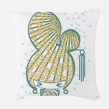 Bon Bon Girl - Dragonfly Woven Throw Pillow