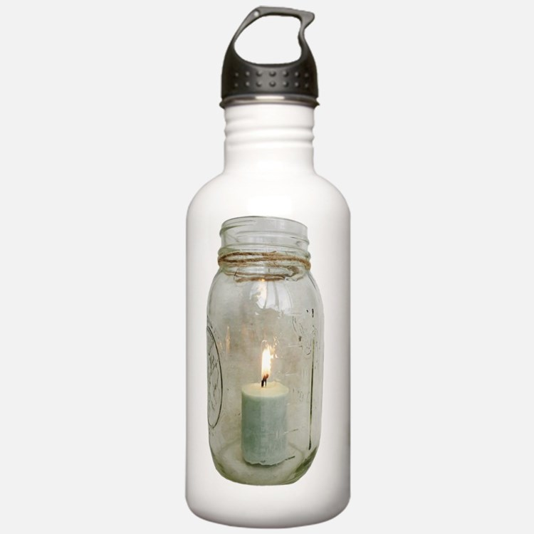 Mason Jar with Candle Water Bottle